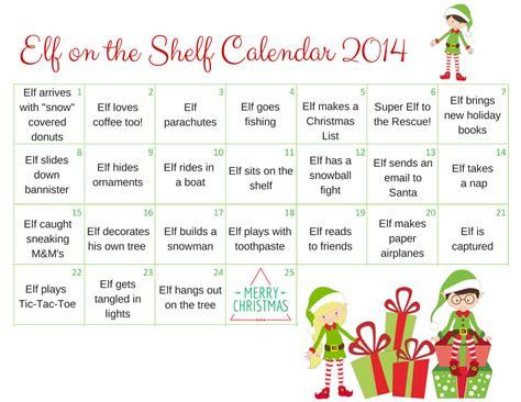 On A Shelf Printable Story by 2015 On The Shelf Calendar A Grande