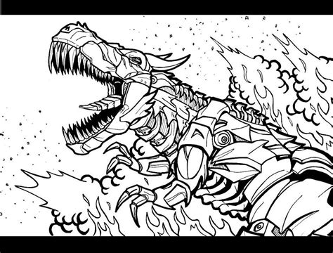 coloring pages transformers grimlock grimlock age of extinction by godzillafan1954 on deviantart