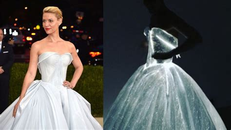 claire danes wedding dress claire danes literally glowed on the met gala red carpet