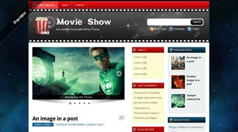 templates blogger peliculas plantilla wordpress para blog de pel 237 culas o series de tv