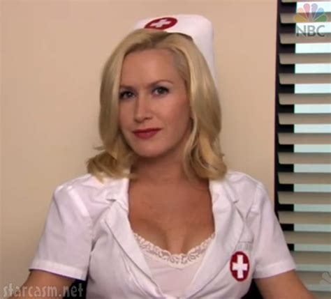 hot office tv photos video angela as a sexy nurse from the office s