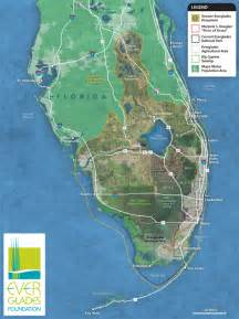 map of the everglades in florida lake okeechobee and the estuaries everglades foundation