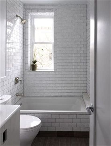 bathroom tiles nyc 3x6 white subway tile with brown grout bathroom