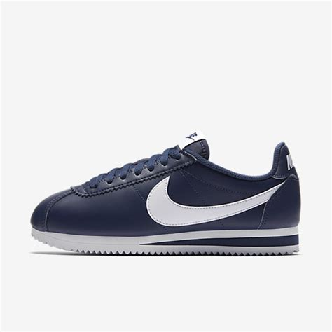 Nike Classic Cortez Leather White Navy Nike Classic Cortez Leather Midnight Navy White Womens