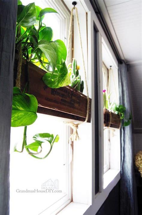 diy indoor hanging flower boxes diy hanging planter