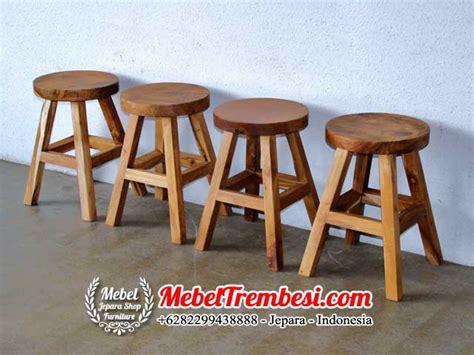 Kursi Bar Stool kursi stool kayu trembesi mebel meja trembesi