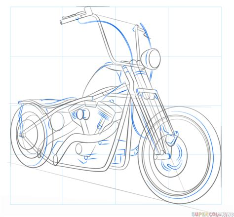 Motorrad Zeichnen by Motorcycle Chopper Drawing Www Imgkid The Image