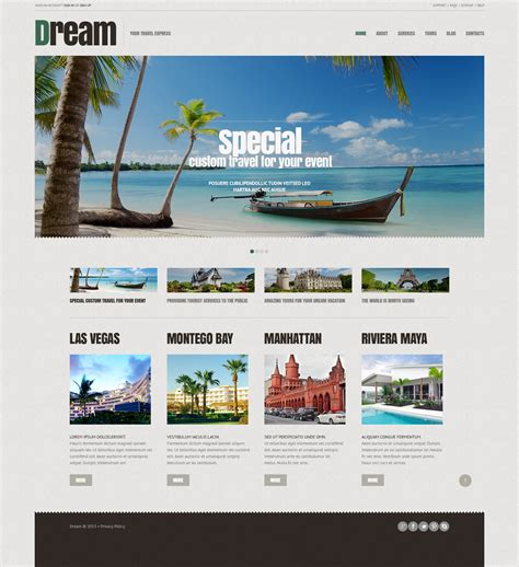 Travel Agency Responsive Wordpress Theme 44903 Travel Booking Website Templates Free