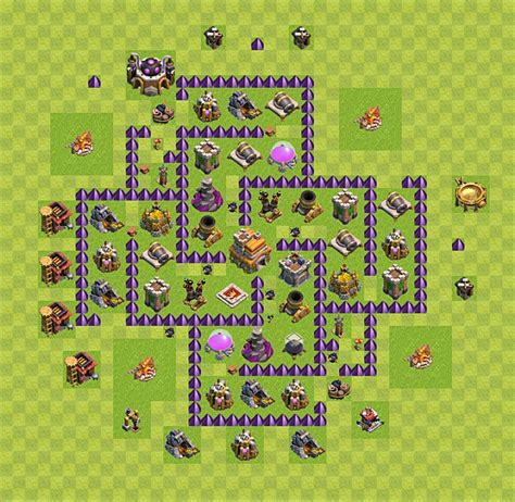 layout design coc th 7 clash of clans base plan layout for trophies town hall