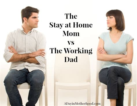 the stay at home vs the working