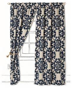 Navy Window Curtains Coqo Floral Curtain Navy Contemporary Curtains By Anthropologie