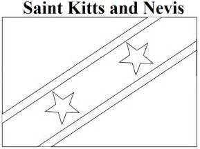 geography blog saint kitts and nevis flag coloring page