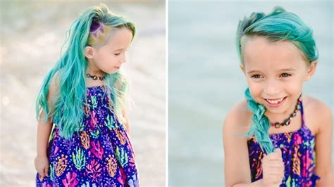 what is to old for colored dark hair mom defends letting her 6 year old daughter dye her hair