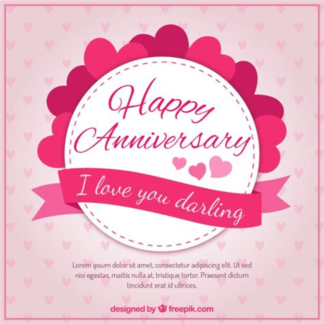 Wedding Anniversary Wishes Vector Free by Hearts Happy Anniversary Badge Vector Free