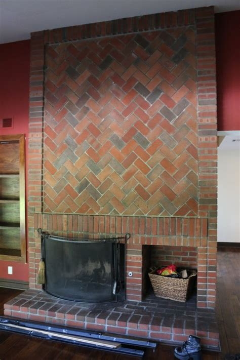 covering fireplace brick fireplace keep or cover