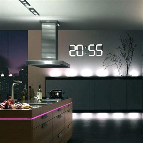 large modern digital led wall clock watches    hour