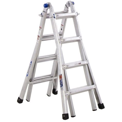 Home Ladder by Werner 17 Ft Aluminum Telescoping Multi Position Ladder