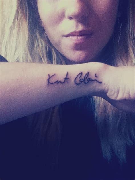 kurt cobain tattoos kurt cobain s autograph kurtcobain nirvana