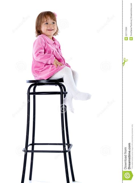 High Chair That Sits In Chair by The Sits On A High Chair Stock Images Image