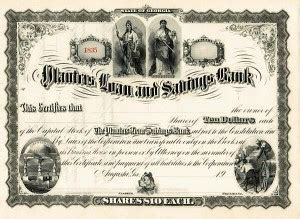 Planters Bank Loan by Collectible Bank Stocks