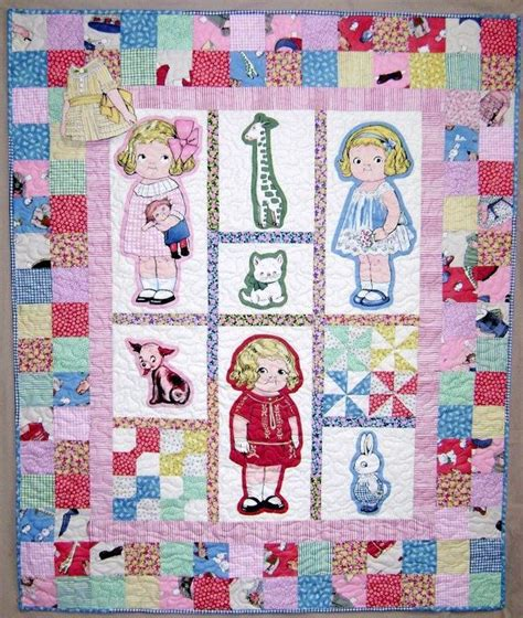 Doll Quilt Pattern by Baby S Paper Doll Quilt Pattern Lindy S Stuff