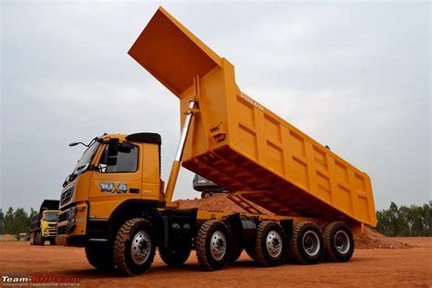 volvo trucks india report pics volvo launches the 10x4 fm 480 dump truck