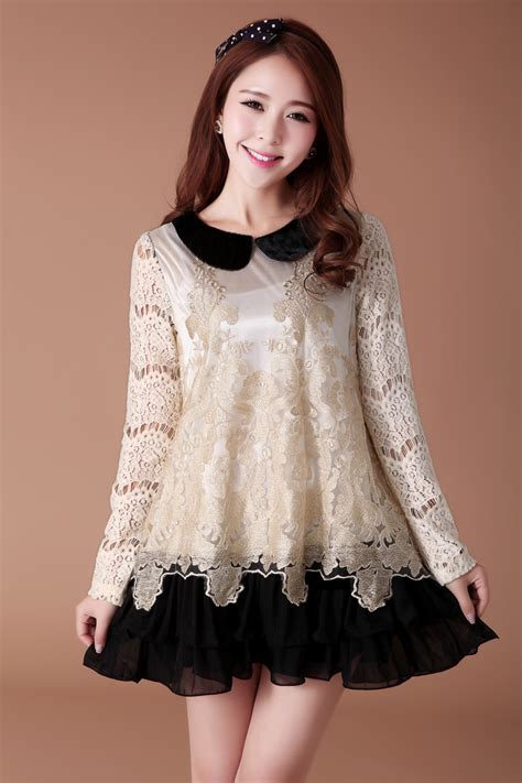 Dress Style Koreanstyle Diskon new arrival korean style embroidery decoration chiffon dress