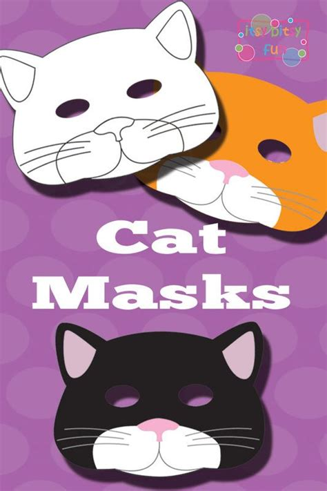 printable mask of cat printable cat mask and template to color cat mask