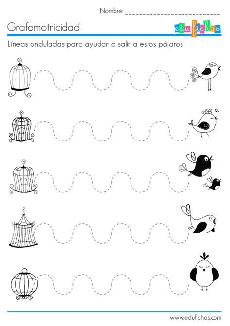 ejercicios de grafomotricidad con trazos curvos para l 237 neas onduladas para repasar fichas de grafomotricidad
