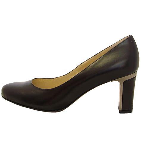 court shoes kaiser koli black leather shoe smart