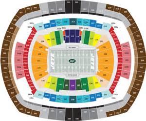 metlife stadium floor plan new jets stadium seating chart