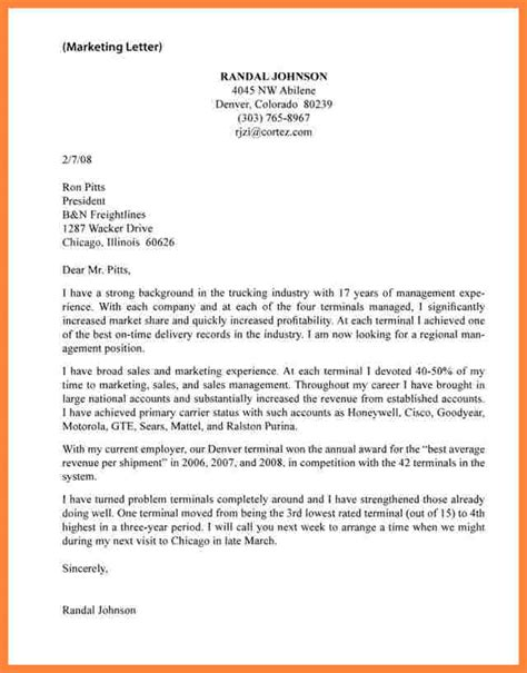 unsolicited cover letter template 10 exles of unsolicited application letter bussines