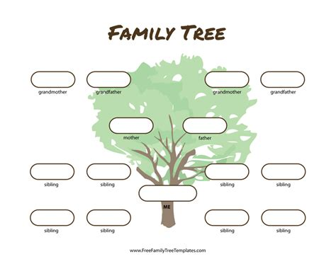 family tree templates with siblings 3 generation family tree many siblings template free