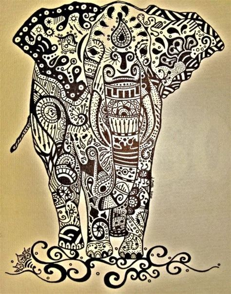 indian pattern elephant tattoo indian elephant painting ideas pinterest posts love