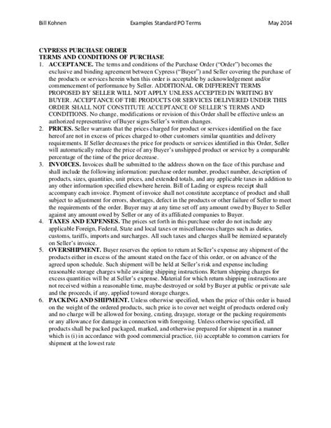 %name Standard Terms And Conditions For Services Template