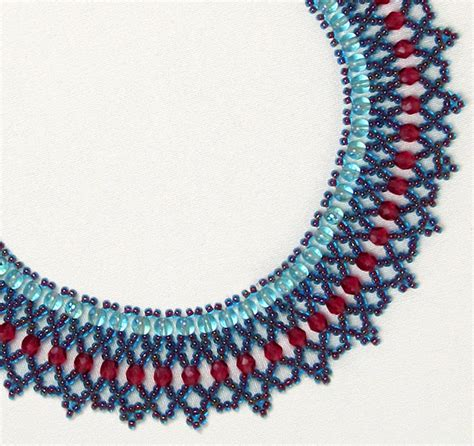 bead netting necklace free bead patterns and ideas beaded net necklace