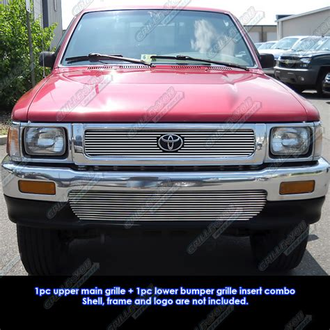 1994 Toyota 4runner Brush Guard Fits 92 95 Toyota Truck 4wd Billet Grille Combo Ebay