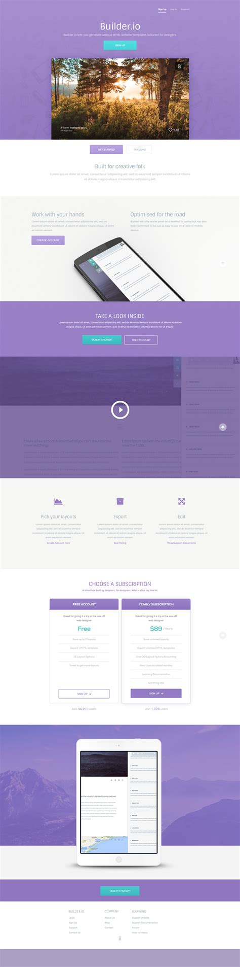 Builder A Free Vibrant Web App Psd Template Website Builder Free Templates