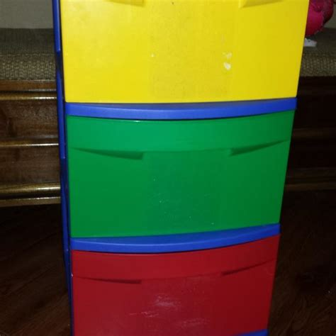 sterilite 3 drawer wide cart primary colors find more sterilite kids storage drawer primary colors