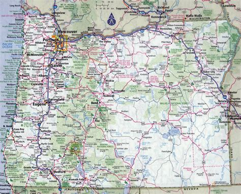 us map oregon state large detailed roads and highways map of oregon state with