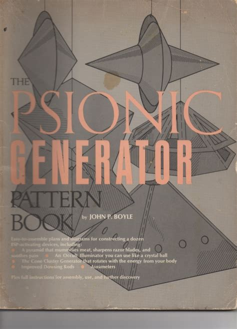 Psionic Generator Pattern Book | the psionic generator pattern book