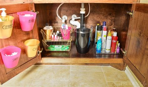bathroom vanity organization under kitchen sink organization ideas that add storage