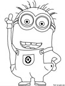 despicable me 2 coloring pages printable disney two eyed minion despicable me 2 coloring