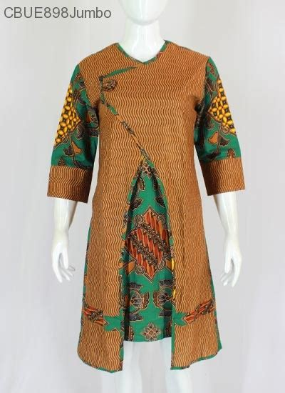 Tunik Jumbo Batik tunik dress batik jumbo blarak hijau 9029 dress murah