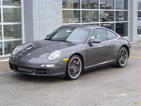 porsche gray 2008 slate grey metallic porsche 911 carrera 4s coupe