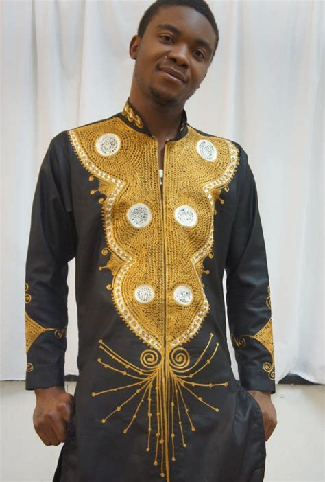 guini material styles for men nigerian brocade with nigerian style contrast embroidery