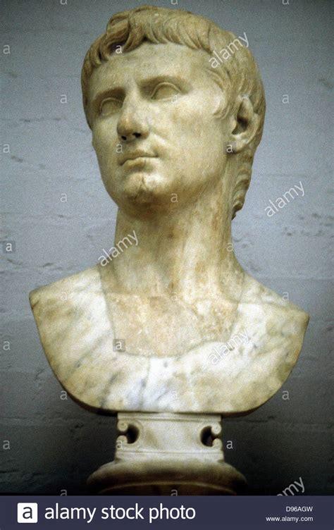 Biographie Caesar Gaius Julius Augustus Caesar Gaius Julius Caesar Octavianus 63 Bc 14 Ad Stock Photo Royalty Free