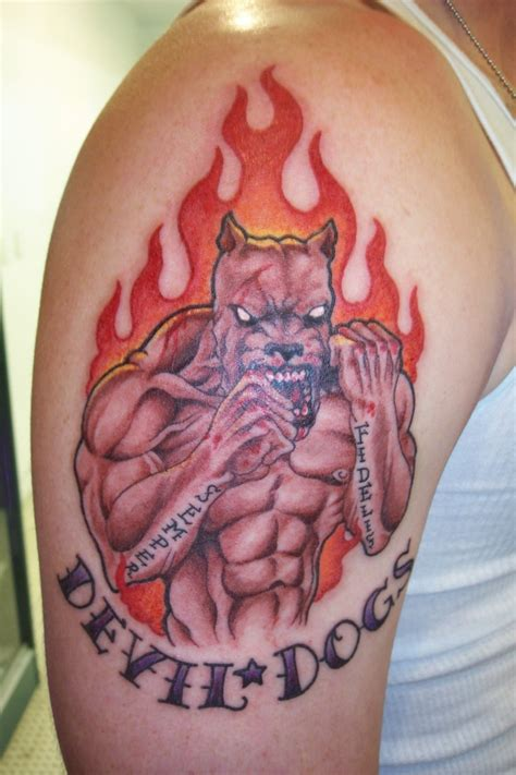 usmc devil dog tattoo