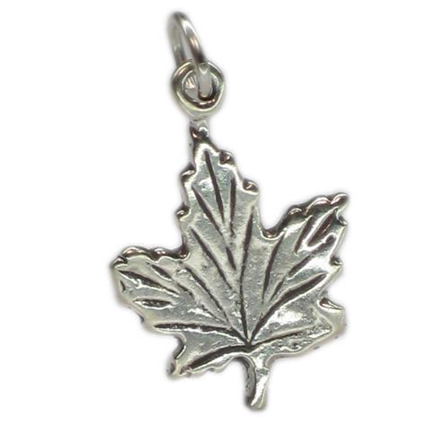 maple leaf sterling silver charm 925 2d x 1 canada leaves