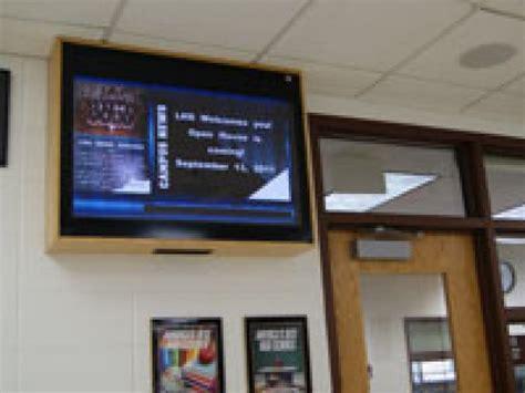libertyville high school  tv monitors